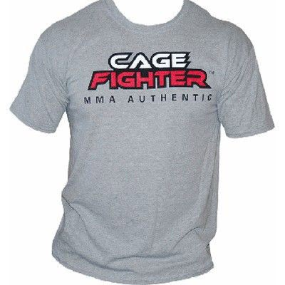 Cage Fighter T-Shirt, grau, XL