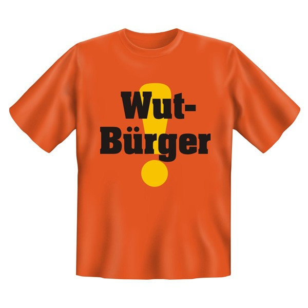 Fun-T-Shirt - Wutbürger, orange