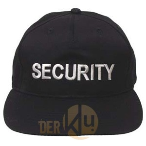 Security baseball cap black with embroidery