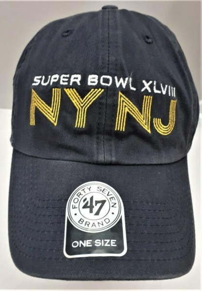 Forty Seven Super Bowl XLVIII NY NJ Baseball Cap Mütze, one size, schwarz