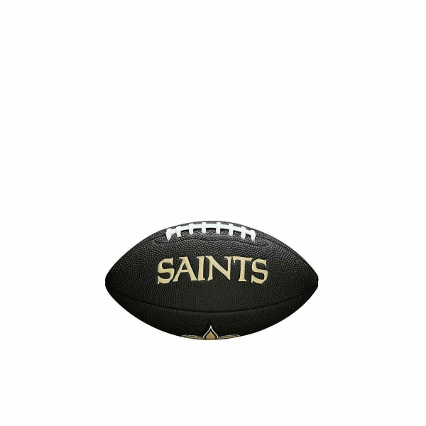 Wilson American Football New Orleans Saints Logo, Mini Size, NFL, Rubber, schwarz