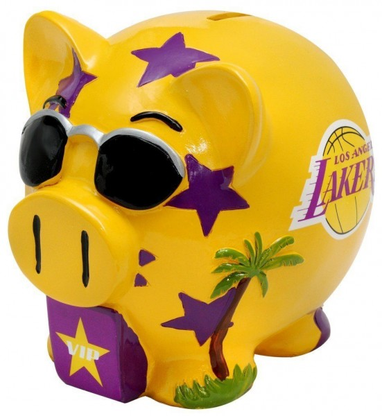 Forever Collectibles NBA Los Angeles Lakers Sparschwein Piggy Bank, 10 cm