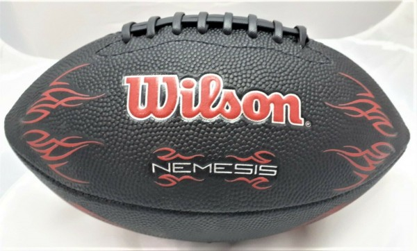 Wilson Nemesis Junior American Football Gummi Rubber Ball, schwarz