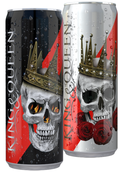 King & Queen Energy Drink in der 0,25 l Dose inkl. Pfand