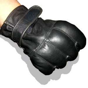 CI tactical operation gloves, leather with quartz sand