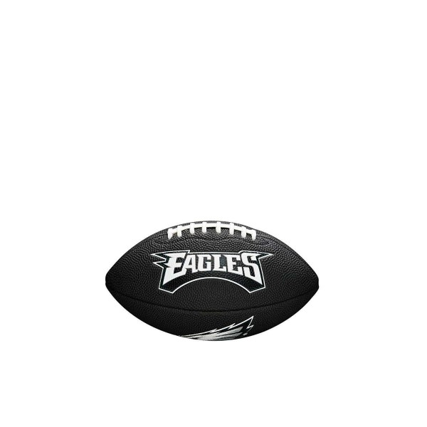 Wilson American Football Philadelphia Eagles Logo, Mini Size, NFL, Rubber, schwarz