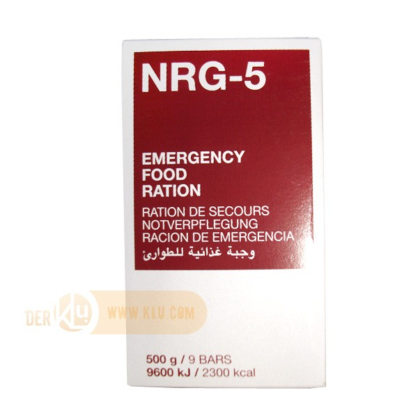 Emergency Food Ration NRG-5 500g - 9 bars