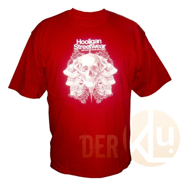 Hooligan Streetwear T-Shirt, red L