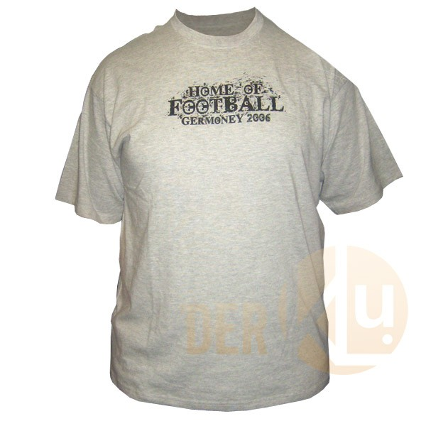 Hooligan T-Shirt - Home of Football Germoney 2006, grey